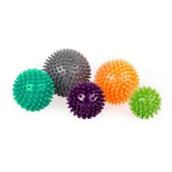 jeu de 5 balles de massage avec picots