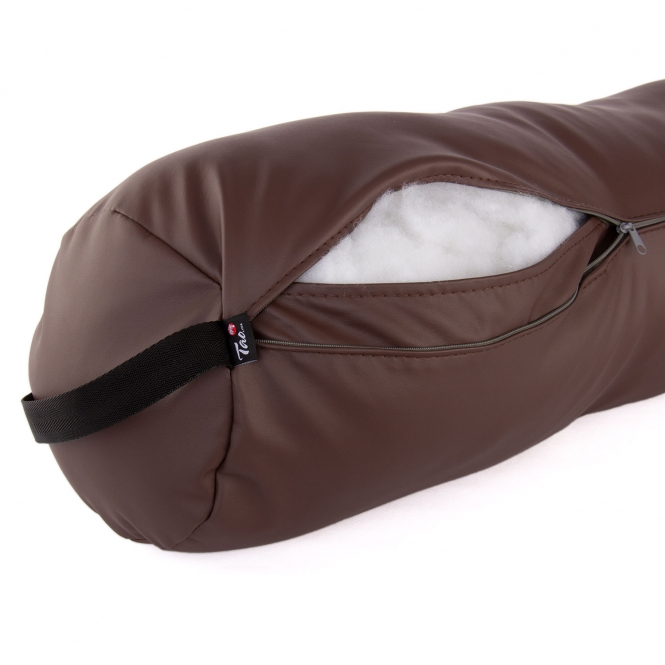 bolster coussin fluffy rembourrage chocolat