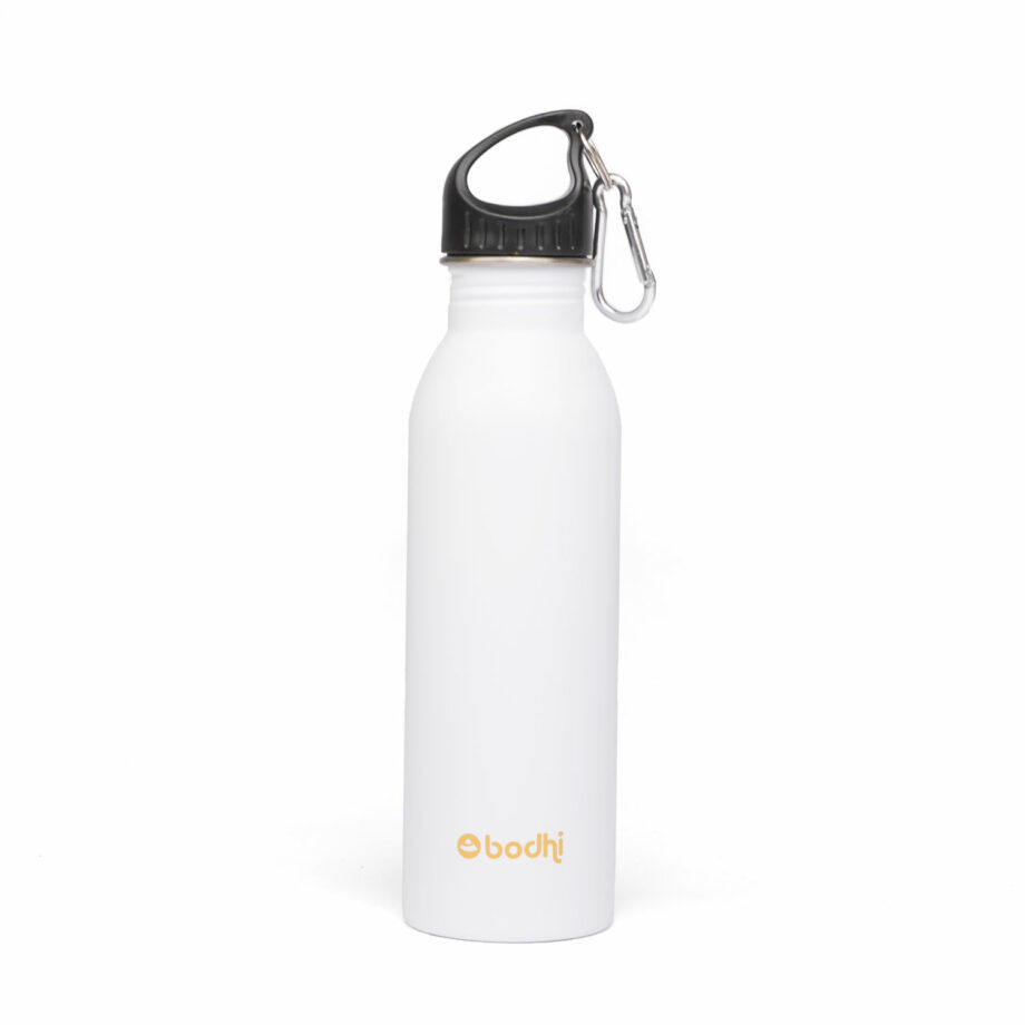 bouteille isotherme inox blanc