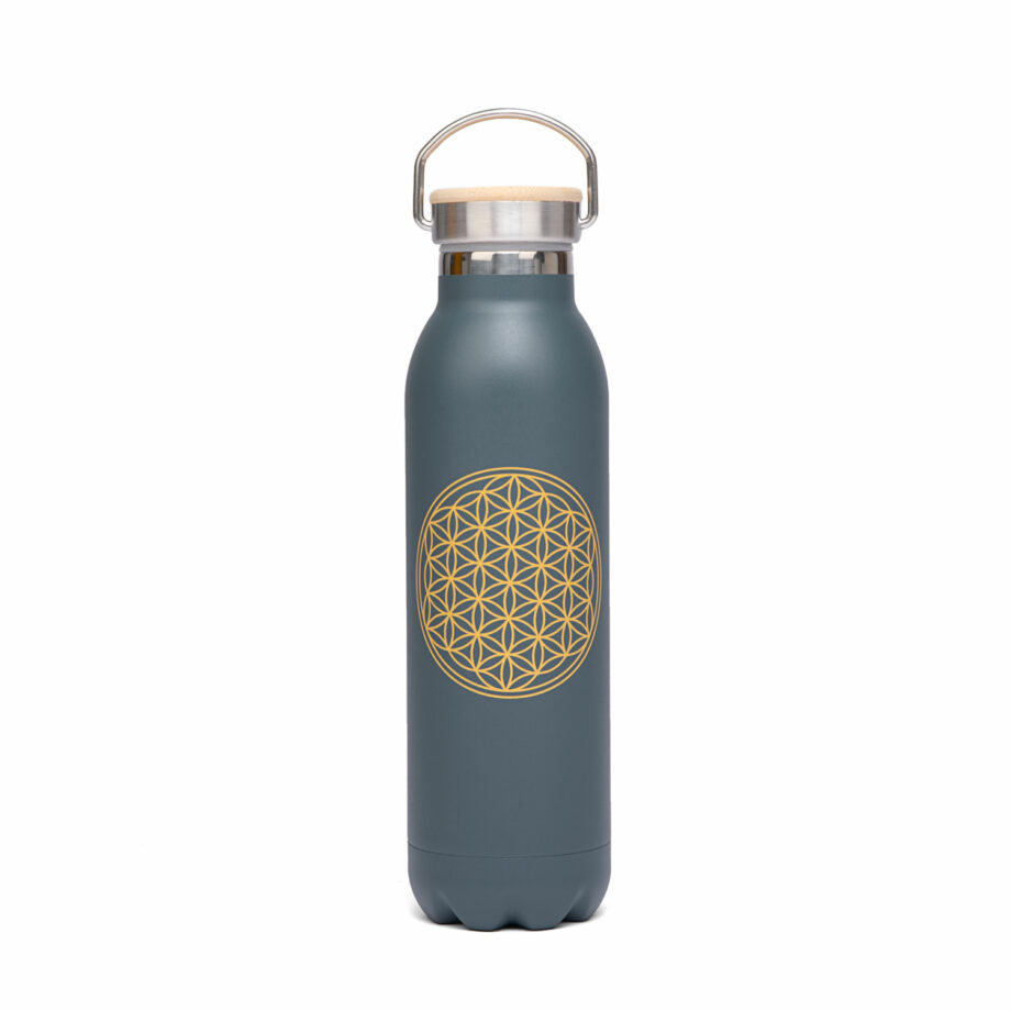 bouteille isotherme inox 600 ml petrole