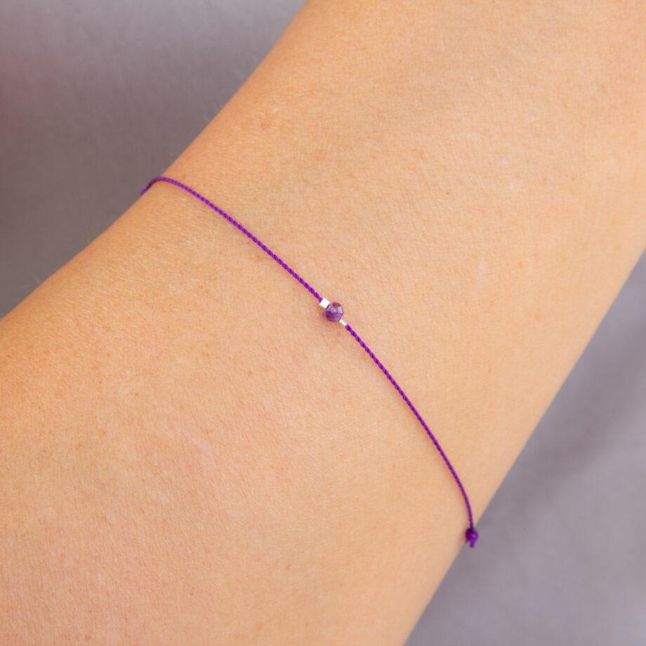 bracelet chakra amethyst