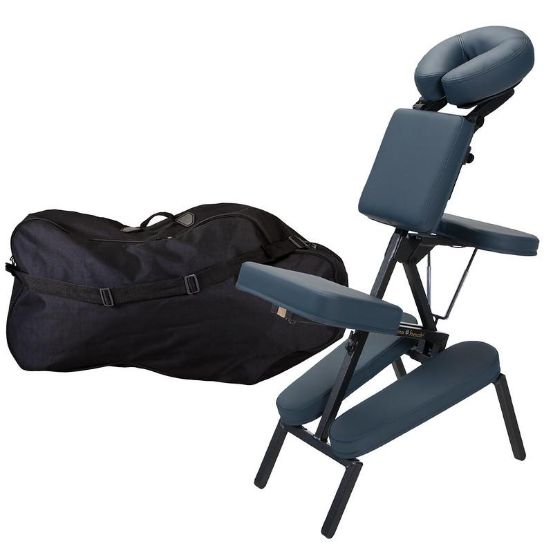 chaise de massage assis element mystic blue