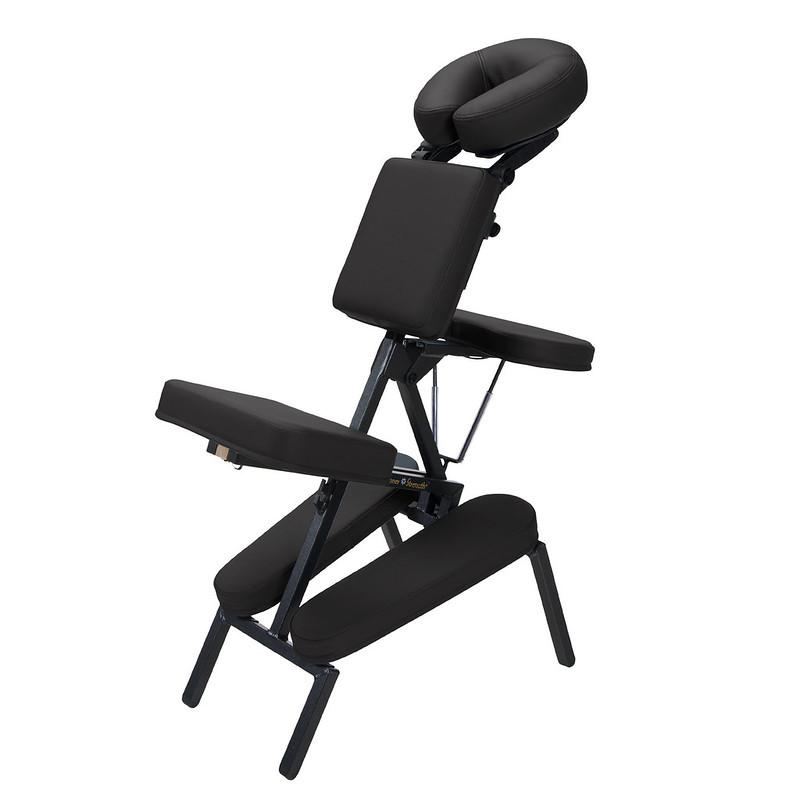 chaise de massage assis element noir