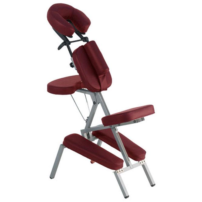 chaise de massage ergo deluxe bordeaux