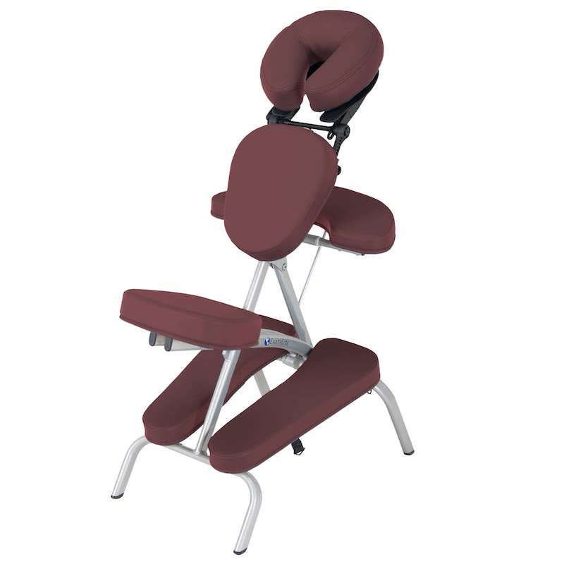chaise de massage pliante vortex bordeaux