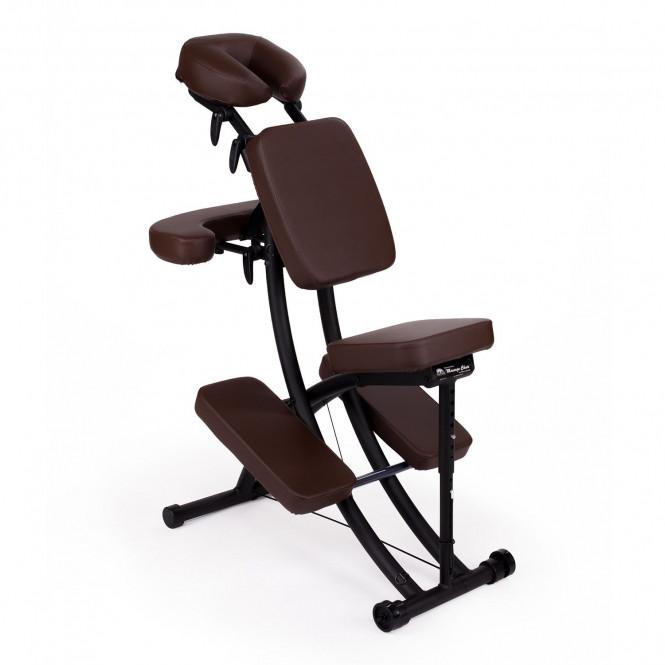 chaise de massage assis portal pro oakworks espresso