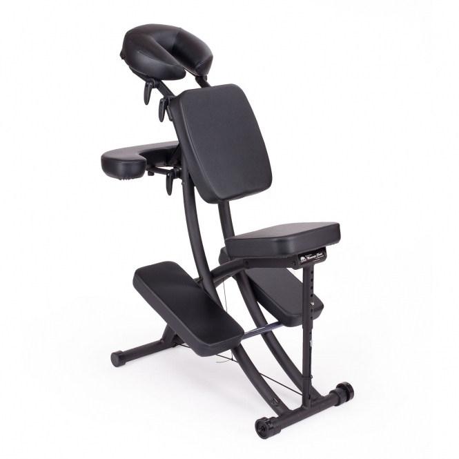 chaise de massage assis portal pro oakworks noir