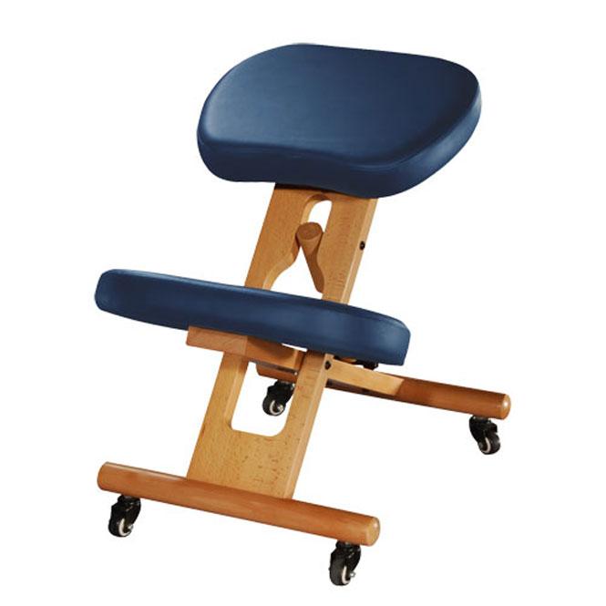 chaise ergonomique tabouret repose genoux bleu