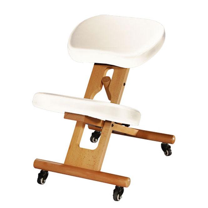 chaise ergonomique tabouret repose genoux creme