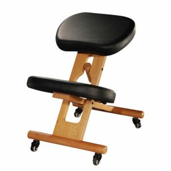 chaise ergonomique tabouret repose genoux noir