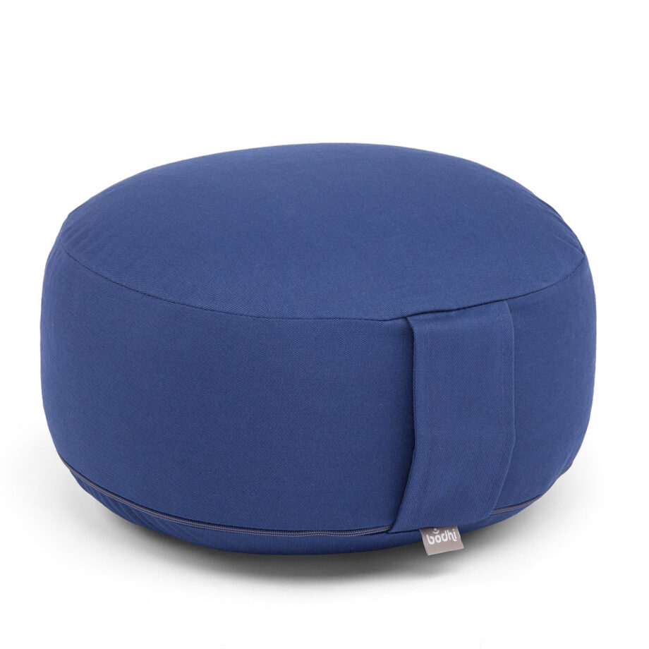coussin de meditation rondo eco bleu