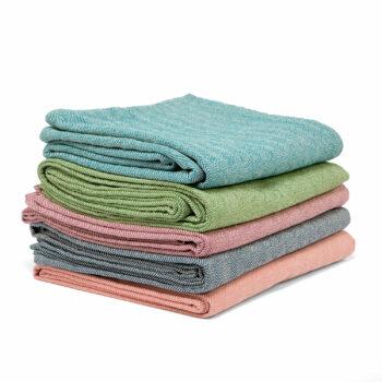 couverture en coton chevron nidra