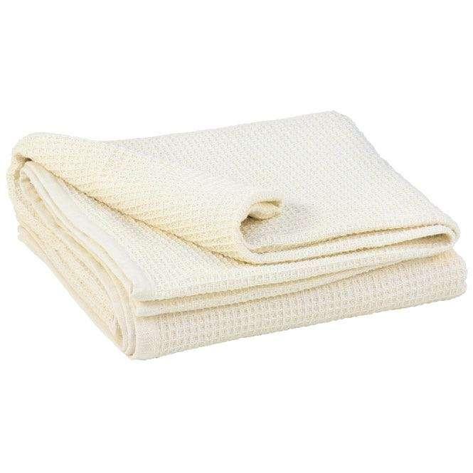 couverture coton gauffre