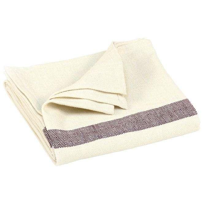 couverture coton chevron