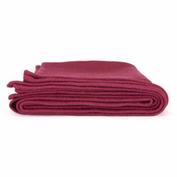 couverture coton shavasana bordeaux