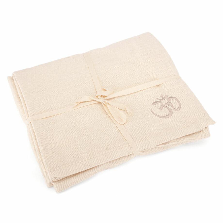 couverture coton shavasana creme