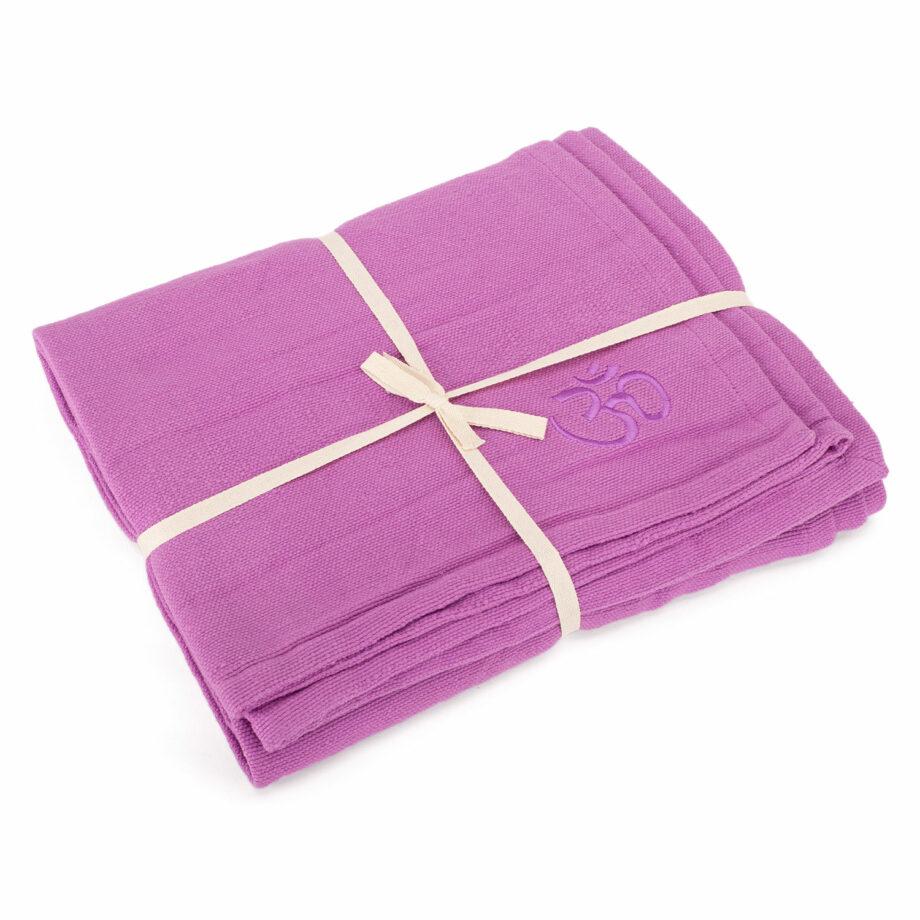 couverture coton shavasana violet