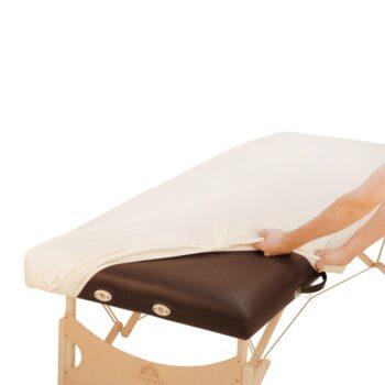 Drap housse en PU resistant a l'huile pour table de massage
