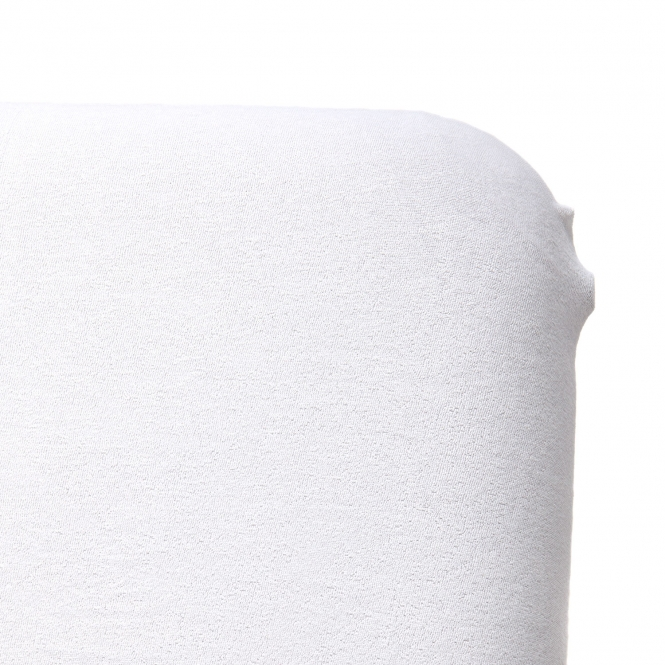drap housse eponge blanc detail