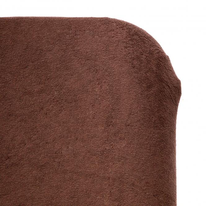 drap housse eponge chocolat detail