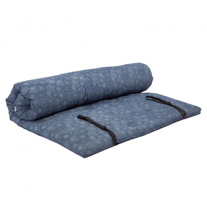 futon de shiatsu transportable ma Maharaja bleu