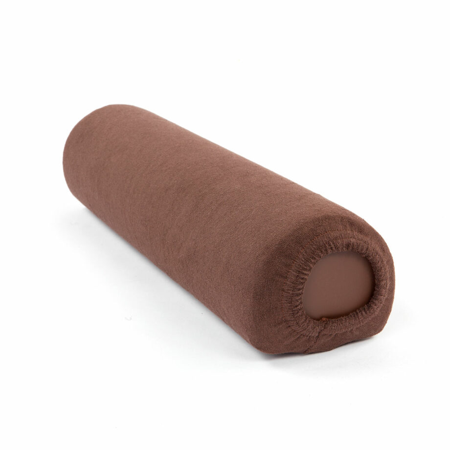 housse tissu eponge chocolat pour coussin cylindrique M