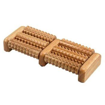 masseur de pieds en bois 6 rouleaux