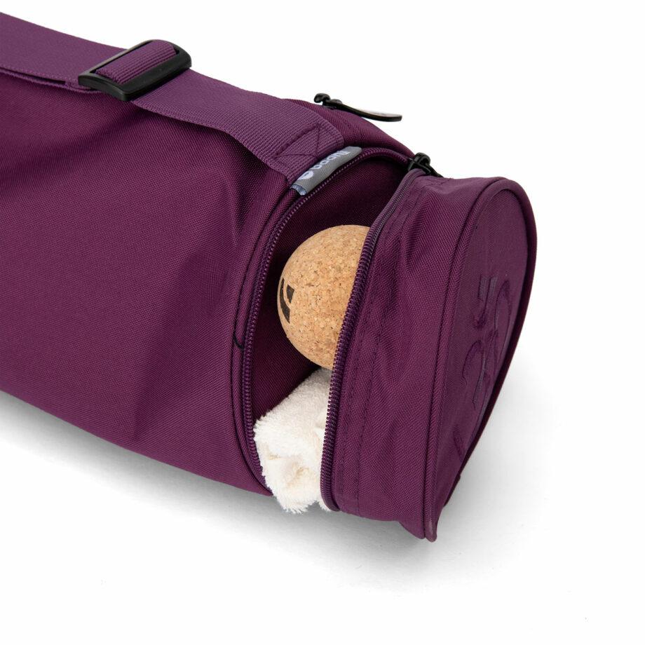 sac tapis de yoga asana aubergine
