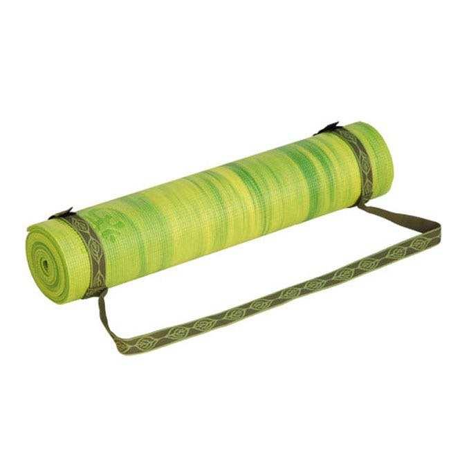 sangle de transport vert tapis de yoga