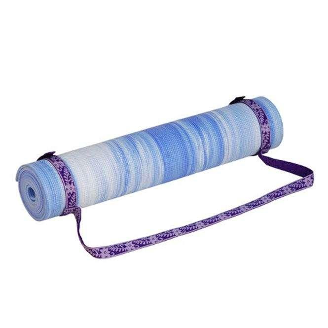 sangle de transport violet tapis de yoga