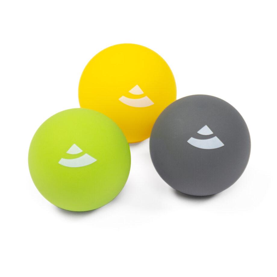 set de 3 balles de massage