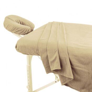 Set de draps en coton pour table de massage