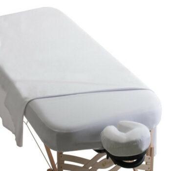 set de drap microfibre blanc