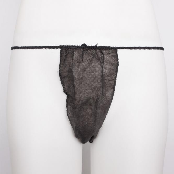 string noir jetable femme