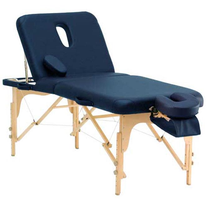 table de massage dossier relevable deluxe