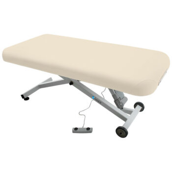 table de massage ellora earthlite dossier plat creme