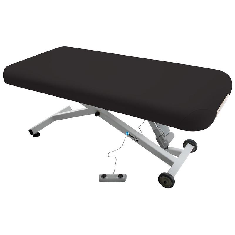 table de massage ellora earthlite dossier plat noir