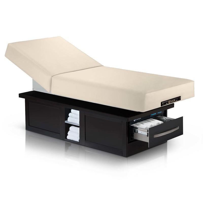 table de massage electrique eclipse dossier relevable creme