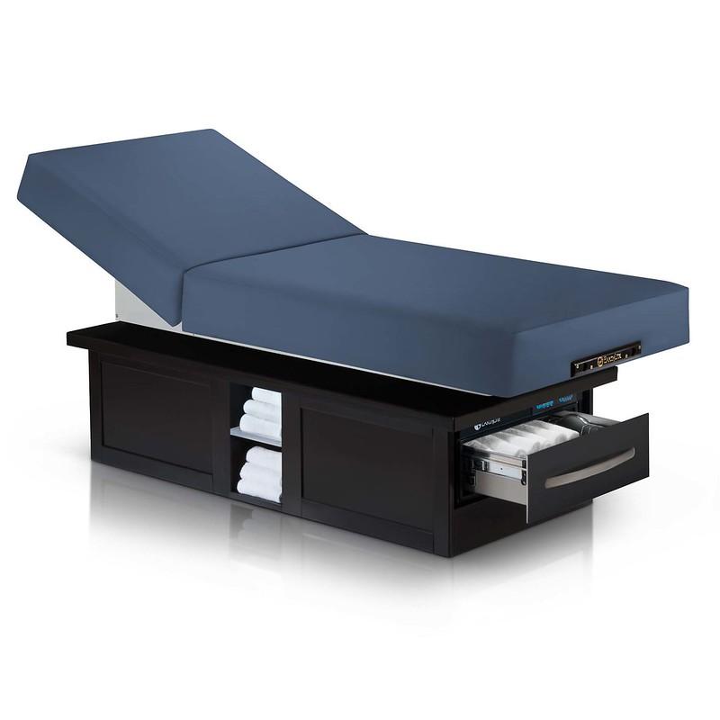 table de massage electrique eclipse dossier relevable mystic blue
