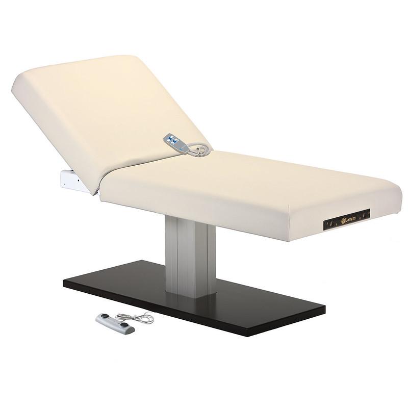 table de massage electrique EVEREST SPA dossier relevable creme