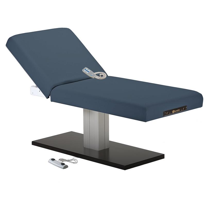 table de massage electrique EVEREST SPA dossier relevable mystic blue