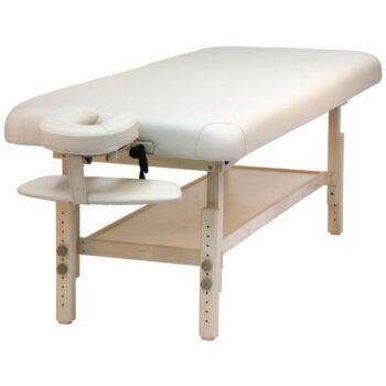table de massage fixe en bois natura