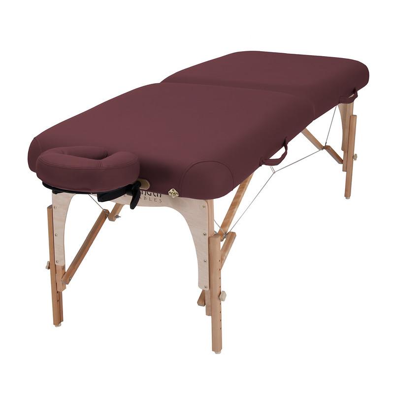 table de massage E2 bordeaux