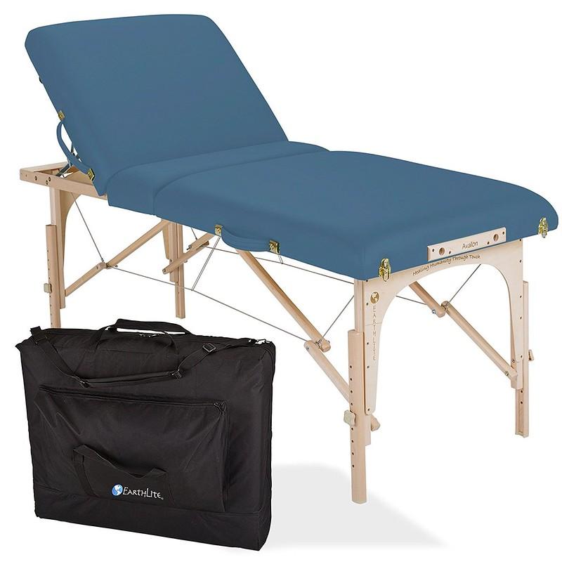 table de massage avalon tilt top mystic blue