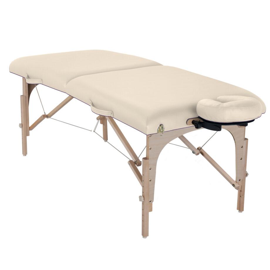 table de massage element creme