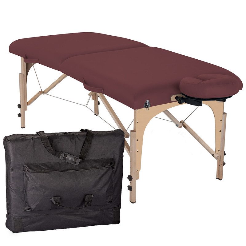 table de massage pliante element bordeaux housse de transport