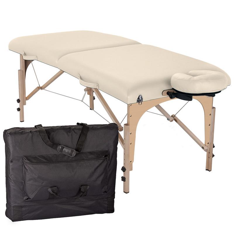 table de massage pliante element creme housse de transport