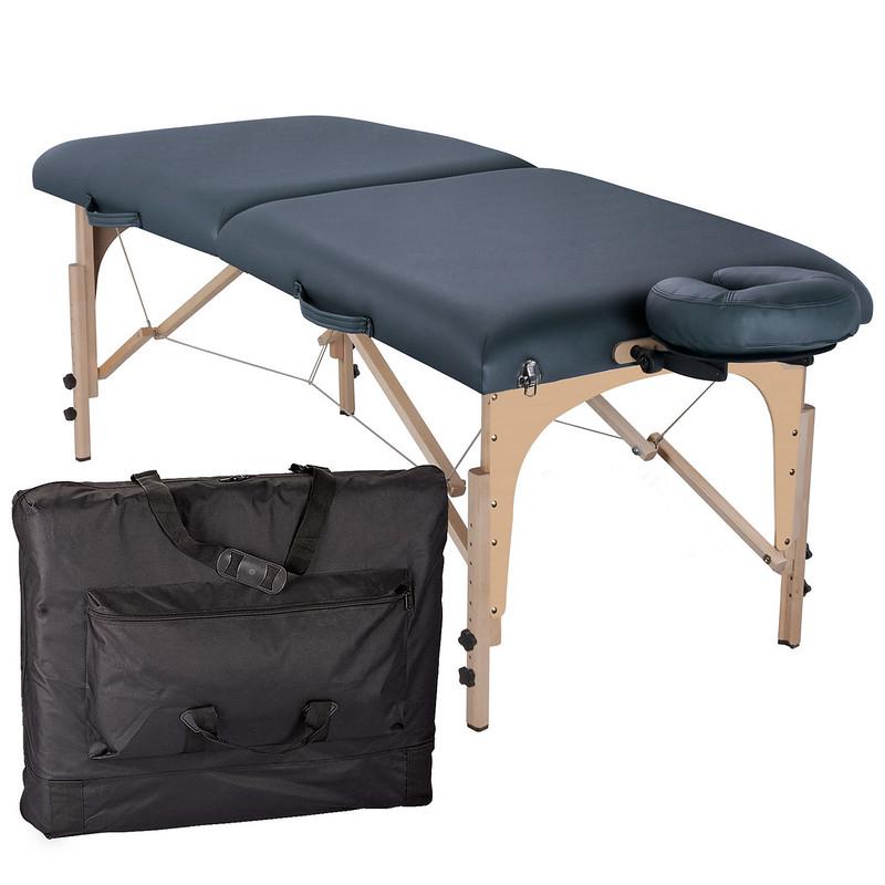 table de massage pliante element mystic blue housse de transport