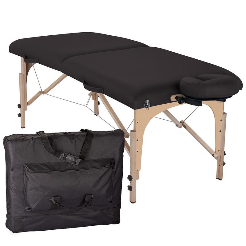 table de massage pliante element noir housse de transport