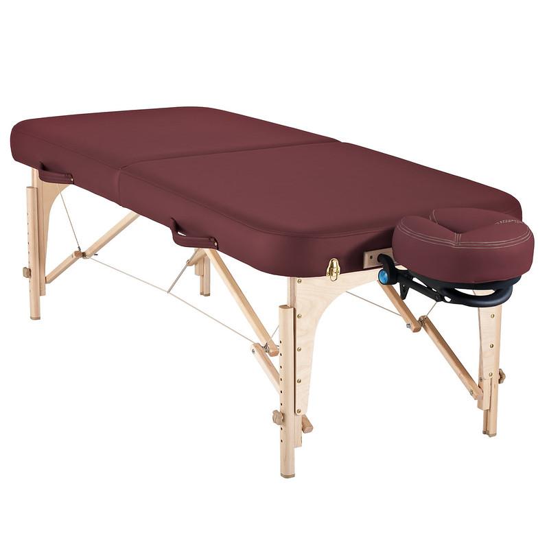 table de massage pliante soirit de earthlite bordeaux